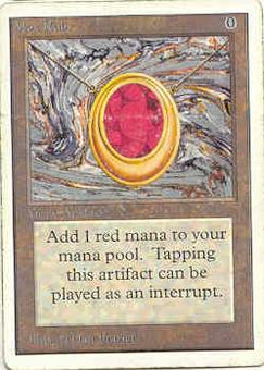 Magic the Gathering Unlimited Single Mox Ruby HEAVY PLAY