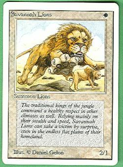 Magic the Gathering Unlimited Single Savannah Lions - SLIGHT PLAY (SP)