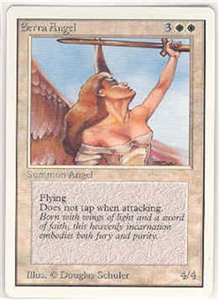 Magic the Gathering Unlimited Single Serra Angel UNPLAYED (NM/MT)