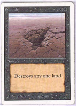 Magic the Gathering Unlimited Single Sinkhole - SLIGHT PLAY (SP)