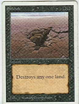 Magic the Gathering Unlimited Single Sinkhole MODERATE PLAY (VG/EX)
