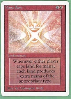 Magic the Gathering Unlimited Single Mana Flare UNPLAYED (NM/MT)