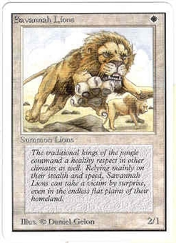 Magic the Gathering Unlimited Single Savannah Lions - NEAR MINT (NM)