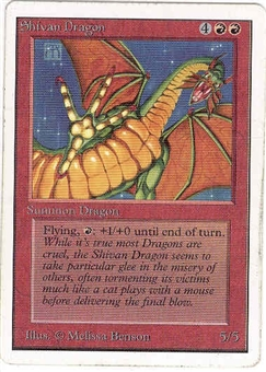 Magic the Gathering Unlimited Single Shivan Dragon - SLIGHT PLAY (SP)
