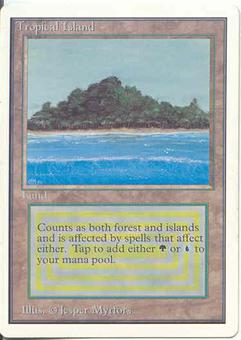 Magic the Gathering Unlimited Single Tropical Island - SLIGHT PLAY (SP)