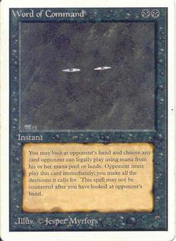 Magic the Gathering Unlimited Single Word of Command - SLIGHT PLAY (SP)