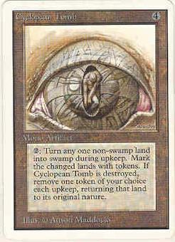 Magic the Gathering Unlimited Single Cyclopean Tomb - SLIGHT PLAY (SP)