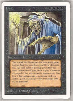 Magic the Gathering Unlimited Single Lich UNPLAYED (NM/MT)