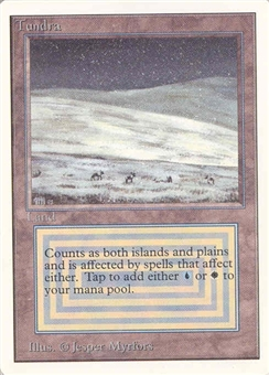 Magic the Gathering Unlimited Single Tundra - SLIGHT PLAY (SP)