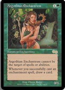 Magic the Gathering Urza's Saga Single Argothian Enchantress - NEAR MINT (NM)