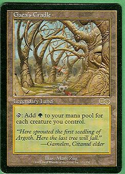 Magic the Gathering Urza's Saga Single Gaea's Cradle - MODERATE PLAY (MP)