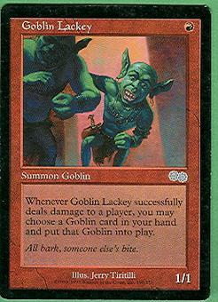 Magic the Gathering Urza's Saga Single Goblin Lackey - SLIGHT PLAY (SP)