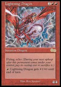 Magic the Gathering Urza's Saga Single Lightning Dragon - NEAR MINT (NM)