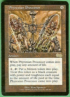 Magic the Gathering Urza's Saga Single Phyrexian Processor - SLIGHT PLAY (SP)