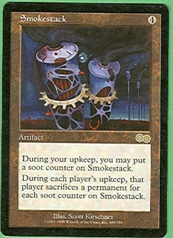 Magic the Gathering Urza's Saga Single Smokestack - SLIGHT PLAY (SP)