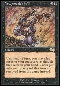 Magic the Gathering Urza's Saga Single Yawgmoth's Will - NEAR MINT (NM)