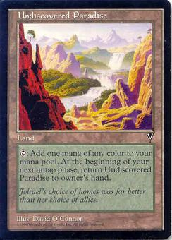 Magic the Gathering Visions Single Undiscovered Paradise - MODERATE PLAY (MP)