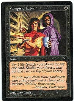 Magic the Gathering Visions Single Vampiric Tutor LIGHT PLAY (NM)