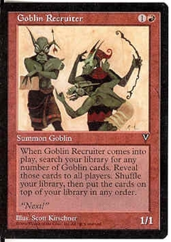 Magic the Gathering Visions Single Goblin Recruiter - NEAR MINT (NM)
