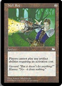 Magic the Gathering Weatherlight Single Null Rod - SLIGHT PLAY (SP)