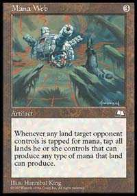 Magic the Gathering Weatherlight Single Mana Web LIGHT PLAY (NM)