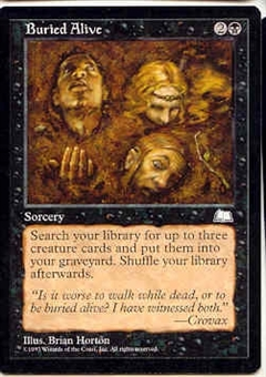 Magic the Gathering Weatherlight Single Buried Alive - NEAR MINT (NM)