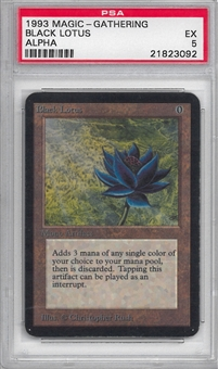 Magic the Gathering Alpha Single Black Lotus PSA 5