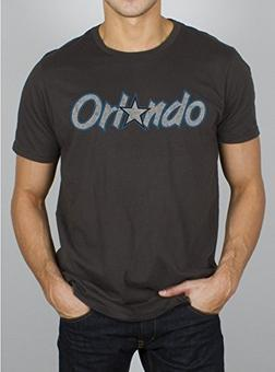 Orlando Magic Junk Food Black Washed Vintage Tee Shirt