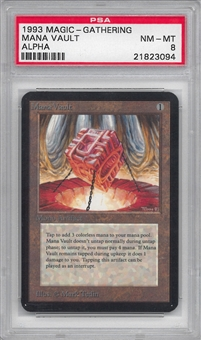 Magic the Gathering Alpha Single Mana Vault PSA 8
