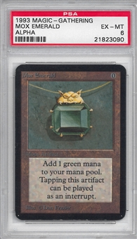 Magic the Gathering Alpha Single Mox Emerald PSA 6