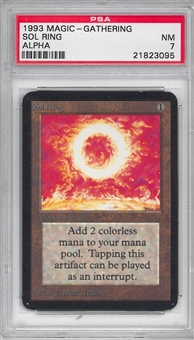 Magic the Gathering Alpha Single Sol Ring PSA 7