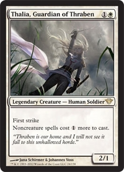 Magic the Gathering Dark Ascension Single Thalia, Guardian of Thraben - SLIGHT PLAY (SP)