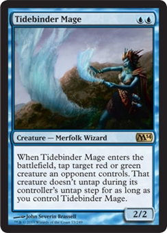 Magic the Gathering 2014 Single Tidebinder Mage Foil - NEAR MINT (NM)