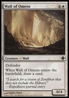 Magic the Gathering Rise of Eldrazi Single Wall of Omens - NEAR MINT (NM)