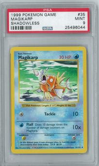 Pokemon Base Set Shadowless Magikarp 35/102 Uncommon PSA 9