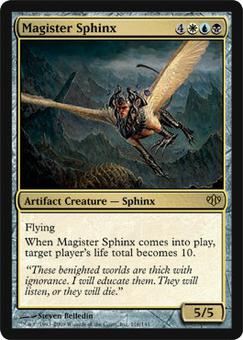 Magic the Gathering Conflux Single Magister Sphinx Foil