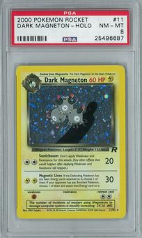 Pokemon Team Rocket Dark Magneton 11/82 Holo Rare PSA 8