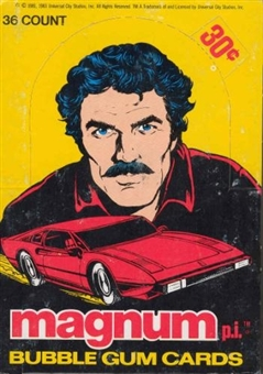 Magnum P.I. Wax Box (1983 Donruss) (Ex Box, Mint Packs)