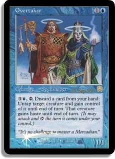 Magic the Gathering Mercadian Masques Single Overtaker Foil (Prerelease)