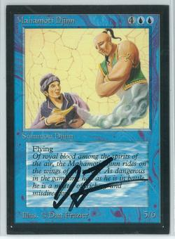 Magic the Gathering Beta Artist Proof Mahamoti Djinn - SIGNED BY DAN FRAZIER (Matte Back)
