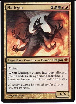 Magic the Gathering Conflux Single Malfegor Foil