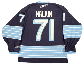Evgeni Malkin Autographed Pittsburgh Penguins Winter Classic Hockey Jersey