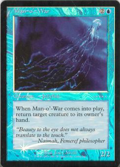 Magic the Gathering Promotional Single Man-o'-war Foil (Arena)