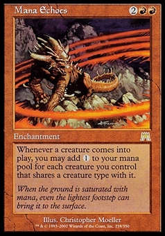 Magic the Gathering Onslaught Single Mana Echoes FOIL - NEAR MINT (NM)