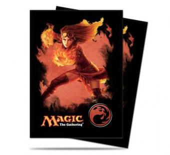 Ultra Pro Magic Red Mana Chandra Standard Sized Deck Protectors (Case of 6000 Sleeves)