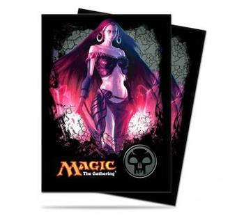 Ultra Pro Magic Black Mana Liliana Standard Sized Deck Protectors (Case of 6000 Sleeves)