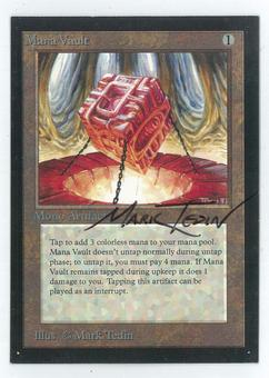 Magic the Gathering Beta Artist Proof Mana Vault - SIGNED BY MARK TEDIN