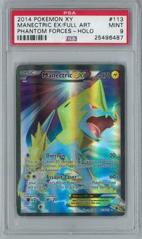Pokemon XY Phantom Forces Manectric EX 113/119 Full-Art Holo Rare PSA 9