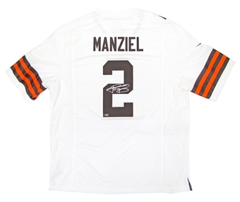 Johnny Manziel Autographed Cleveland Browns White Nike Jersey (Panini Authentics)