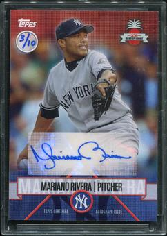 2016 Topps Baseball Hawaii Summit Exclusive Mariano Rivera Autograph 3/10